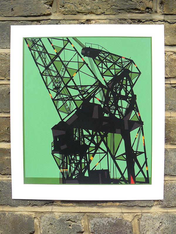 Dockyard crane 2 screenprint