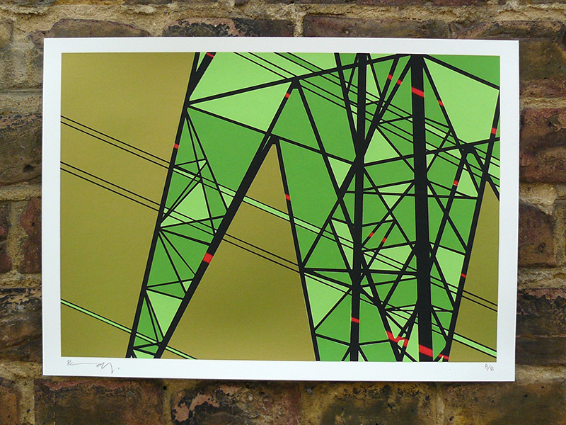 Pylon 9 screenprint