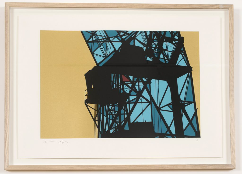 Crane (Antwerp) screenprint