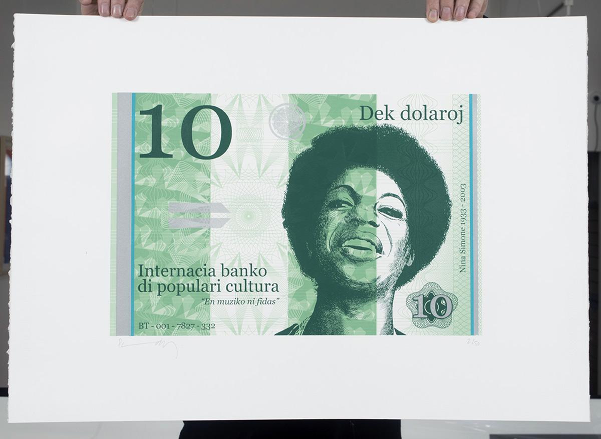 Ten dollar Nina silkscreen print