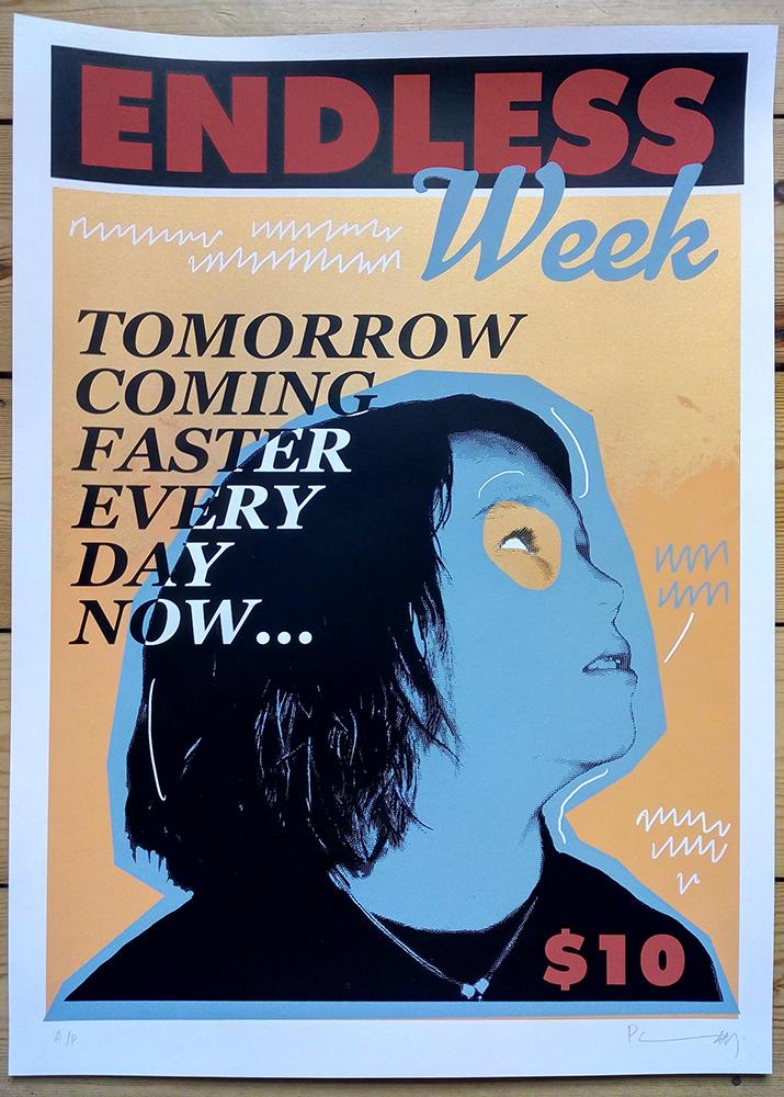 Endless Week - Alexander. Six colour screenprint.