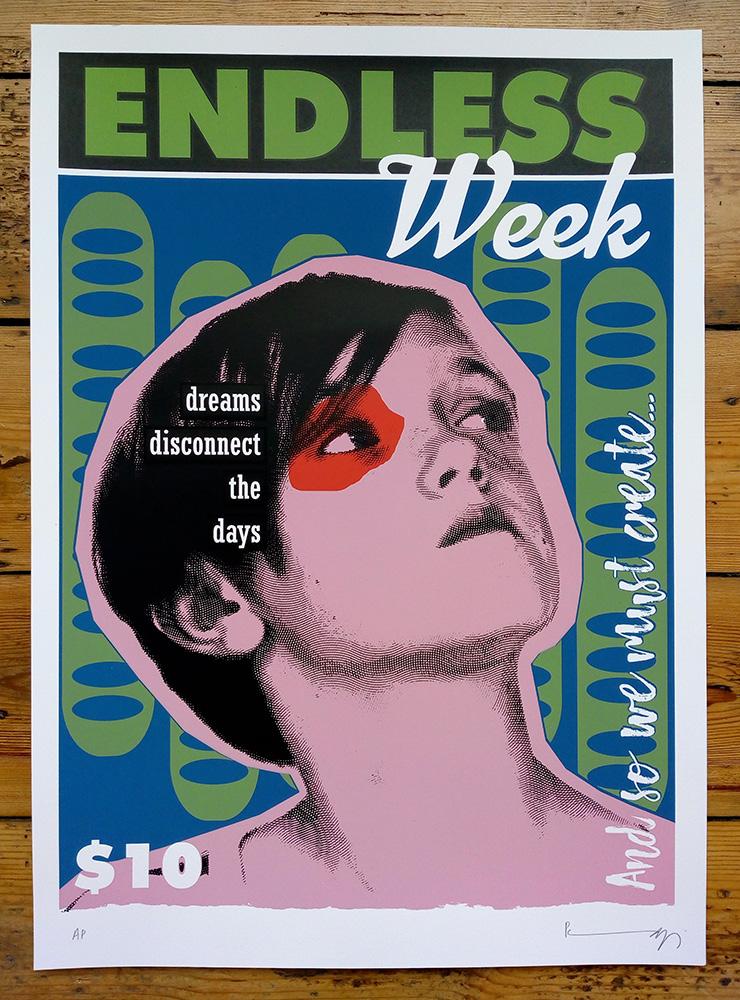 Endless Week - Dougal. Six colour screenprint.